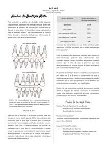 Análise da Dentição Mista (Análise de Modelo)