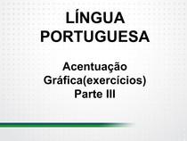 ACENTUAÇAO GRAFICA   EXERCICIOS