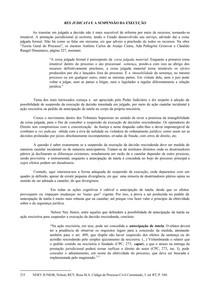 RES JUDICATA E A SUSPENSÃO DA EXECUÇÃO