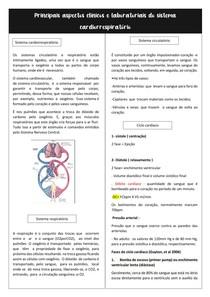 Aspéctos clínicos e laboratoriais do sistema cardiorrespiratório