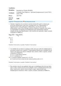 Introdução ao Calculo - Prova Final Uniasselvi (4)