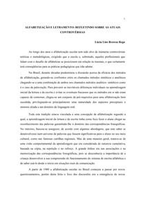 ALFABETIZAÇÃO E LETRAMENTO REFLETINDO SOBRE AS ATUAIS