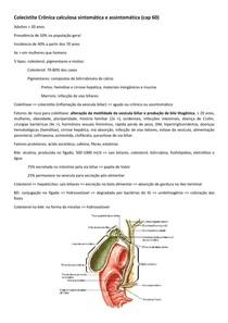 Colecistite Crônica calculosa sintomática e assintomática