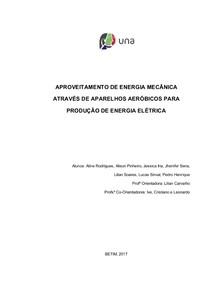 APROVEITAMENTO DE ENERGIA MECÂNICA ATRAVES DE APARELHOS AEROBICOS