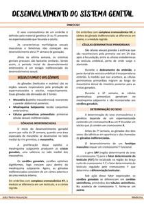RESUMO - DESENVOLVIMENTO DO SISTEMA GENITAL