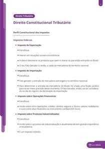 Perfil Constitucional dos Impostos - Resumo