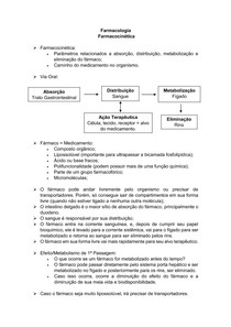 Farmacocinética (Parte 1) - Farmacologia