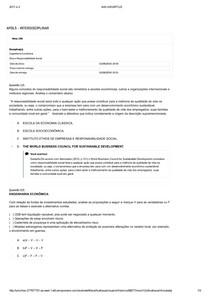 apol 5 Ética e Responsabilidade Social e Engenharia Econômica