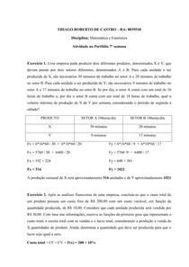 PORTFÓLIO MATEMÁTICA E ESTATÍSTICA  2°CICLO