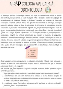 A PSICOLOGIA APLICADA À ODONTOLOGIA