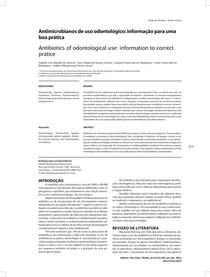 Antimicrobianos de uso odontológico