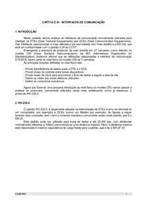 CAPÍTULO 11 - INTERFACES DE COMUNICAÇÃO