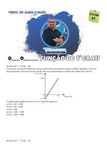 FICHA 2 DE QUESTÕES - FUNÇÃO DO 1o GRAU