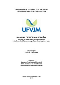 Manual ABNT UFVJM1