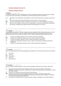 Questões Avaliação Aula 01 a 10
