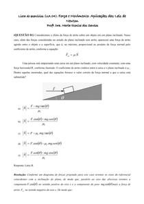 Lista UA 4_Força e Movimento_Aplicações das Leis de Newton