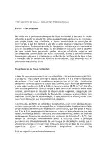 TRATAMENTO DE ÁGUA - decantadores