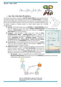 VITAMINA B12 E ÁCIDO FÓLICO - Metabolismo e Deficiência