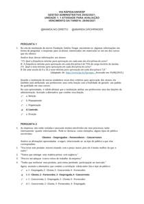 Gestão Administrativa - ATIVIDADE 1 - Via rápida 2021