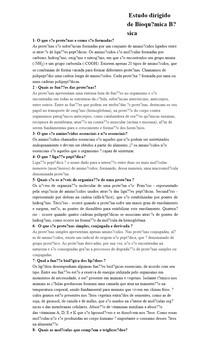 Estudo dirigido de Bioquímica Básica