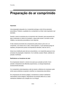 Preparação do ar comprimido