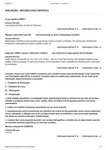 Avaliação Metodologia Científica - Facuminas