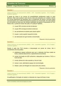 LIBRAS - Questões de Concursos Publicos - Modulo 3