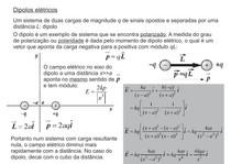 Dipolos eletricos - Física - Eletromagnetismo