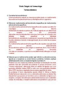 Estudo Dirigido (respondido) - Farmacodinâmica