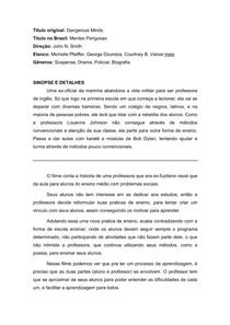 ACO CULTURAL - MENTES PERIGOSAS 10-03-18