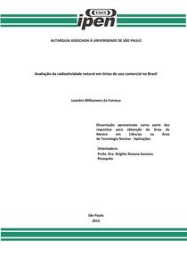 Radioatividade natural em tintas no Brasil