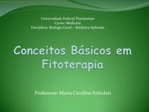 Conceitos básicos em Fitoterapia