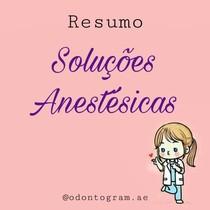 Soluções anestésicas