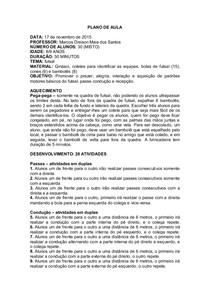 e4dc89cf0d9a1 PLANO DE AULA - futsal - Educação Física