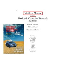 Feedback Control Of Dynamic Systems 5th Edition Pdf