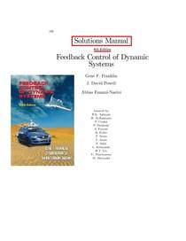 Of systems dynamic 6th feedback pdf control