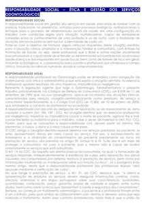 14 - RESPONSABILIDADE SOCIAL ÉTICA E GESTÃO DOS SERVIÇOS ODONTOLÓGICOS