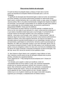 Discursivas de HISTÓRIA DA EDUCAÇÃO PEDAGOGIA