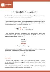 MRU - Movimento Retilíneo Uniforme