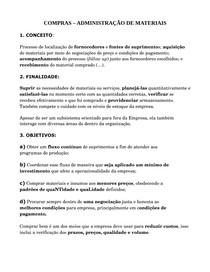 COMPRAS NO SETOR PÚBLICO E PRIVADO - RESUMO
