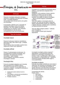 Princípios de Imunização - Mecanismo de agressão e defesa