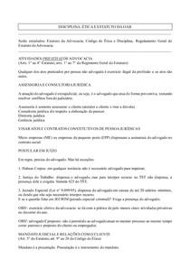 (P&B) caderno de Ética voltado para Estudos do Exame de Ordem