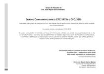 Quadro comparativo CPC 1973 x CPC 2015