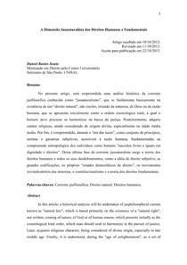 A Dimensão Jusnaturalista dos Direitos Humanos e Fundamentais