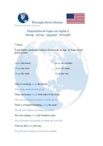 Preposições de lugar em inglês - along / across / opposite / through