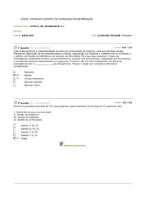 Avaliação Parcial 02 - - ENTREGA E SUPORTE EM TECNOLOGIA DA INFORMAÇÃO