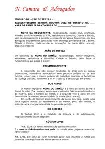 Modelo de Petições Iniciais