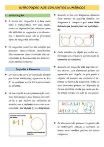 1 Introdução aos Conjuntos Numéricos