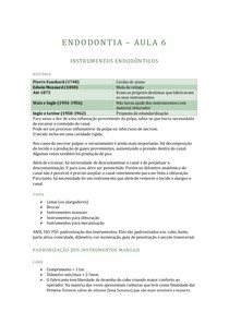 ENDODONTIA - 6 - INSTRUMENTOS