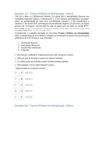 APOL Teoria e Prática em Antropologia